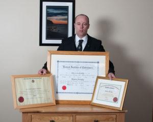 Shaun certified embalmer